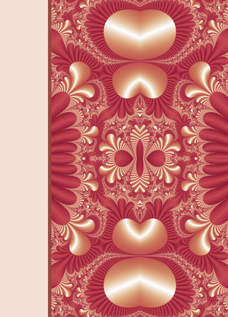 notebook cover: Design of floral ornamental notebook cover Stock Photo