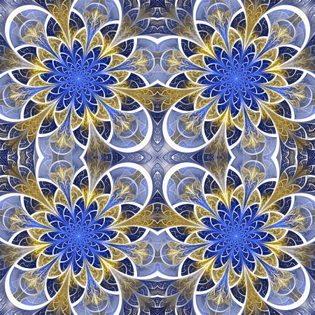 bedspread: Beautiful seamless flower pattern in stained-glass window style. You can use it for invitations, notebook covers, phone cases, postcards, cards, wallpapers and so on. Artwork for creative design.