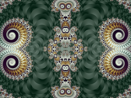 Beautiful Background with Spiral Pattern. Green and gray palette. Artwork for creative design, art and entertainment.