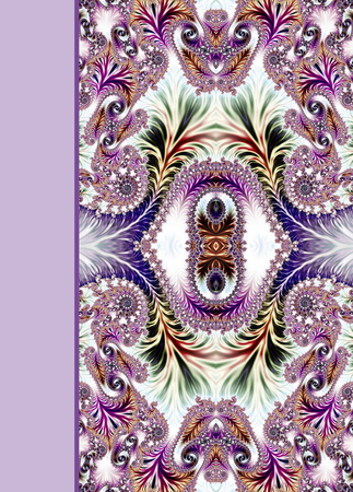 Design of spiral ornamental notebook cover Stock Photo