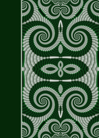 note booklet: Design of spiral ornamental notebook cover Stock Photo