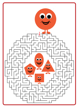 riddles: Funny maze game for Preschool Children.