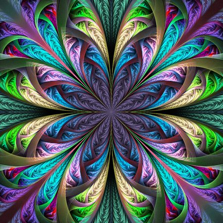 bedspread: Beautiful multicolored fractal flower. Collection - frosty pattern. You can use it for invitations, notebook covers, phone case, postcards, cards, wallpapers and so on. Artwork for creative design, art.