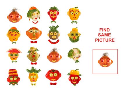 similar: Cartoon  Illustration of Finding the Same Picture.  Educational Game for Preschool Children.