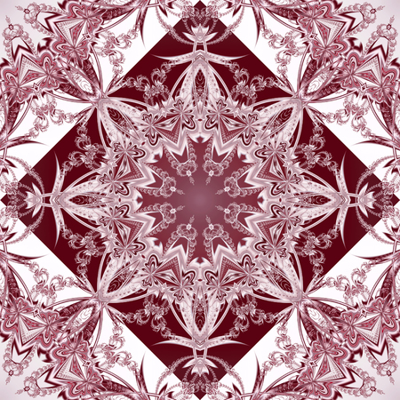 tapis: Two-tone seamless pattern with floral circle and square ornament. You can use it for invitations, notebook covers, phone case, postcards, cards, ceramics, carpets. Artwork for creative design.