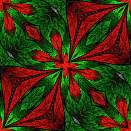 red rug: Beautiful flower pattern in stained-glass window style. You can use it for invitations, notebook covers, phone cases, postcards, cards, wallpapers and so on. Artwork for creative design.