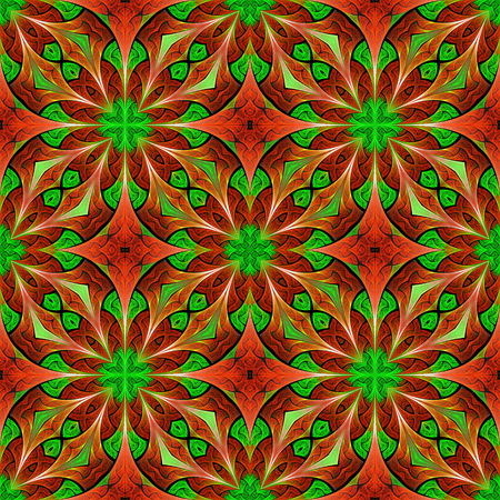 Beautiful seamless flower pattern in stained-glass window style. You can use it for invitations, notebook covers, phone cases, postcards, cards, wallpapers and so on. Artwork for creative design.