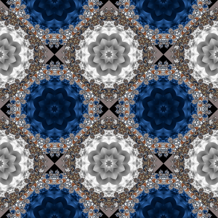 Two-tone seamless pattern with spiral and circle ornament. You can use it for invitations, notebook covers, phone case, postcards, cards, ceramics, carpets and so on. Artwork for creative design and art.