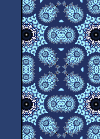 Notebook cover with beautiful pattern in fractal design.  Stock Photo