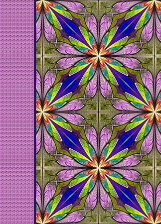 note booklet: Notebook cover with beautiful pattern in fractal design.