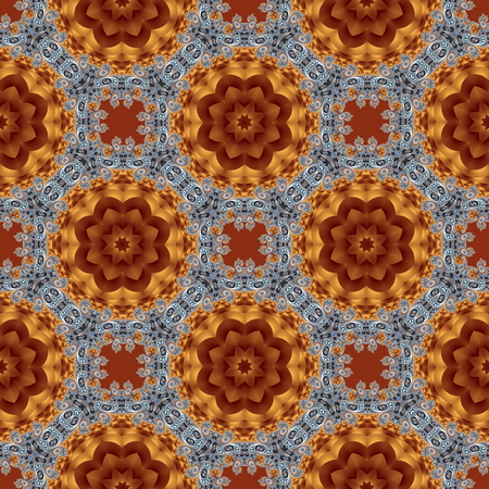 Seamless pattern with spiral and circle ornament. You can use it for invitations, notebook covers, phone case, postcards, cards, ceramics, carpets and so on. Artwork for creative design and art. Stock Photo