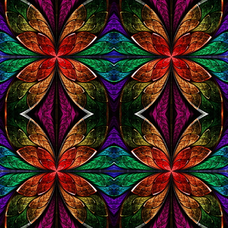 bedspread: Multicolored seamless fractal pattern in stained-glass window style. You can use it for invitations, notebook covers, phone case, postcards, cards, wallpapers and so on. Artwork for creative design, art and entertainment.