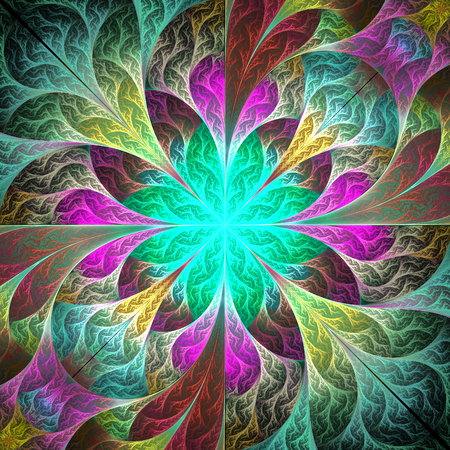 Beautiful fractal flower. You can use it for invitations, notebook covers, phone case, postcards, cards and so on. Element of design. Artwork for creative design, art and entertainment.