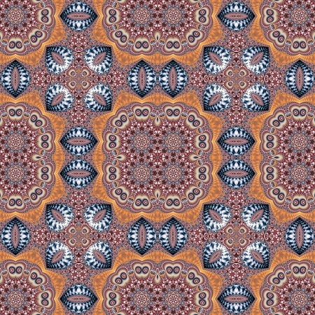 rug texture: Seamless pattern with spiral and circle ornament. You can use it for invitations, notebook covers, phone case, postcards, cards, ceramics, carpets and so on. Artwork for creative design and art. Stock Photo