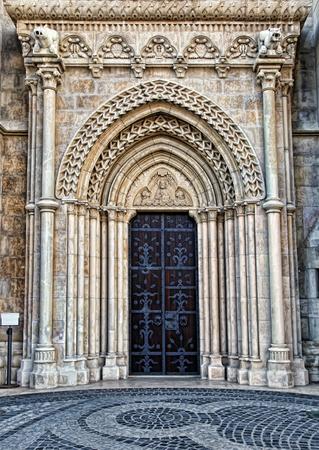 Matthias Church in Budapest. Gate of the Matthias Church.