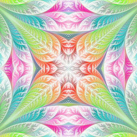 Flower pattern in fractal design. Artwork for creative design, art and entertainment. Stock Photo