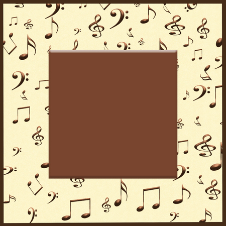 Creative concept background of musical notes and symbols with a blank for your text.