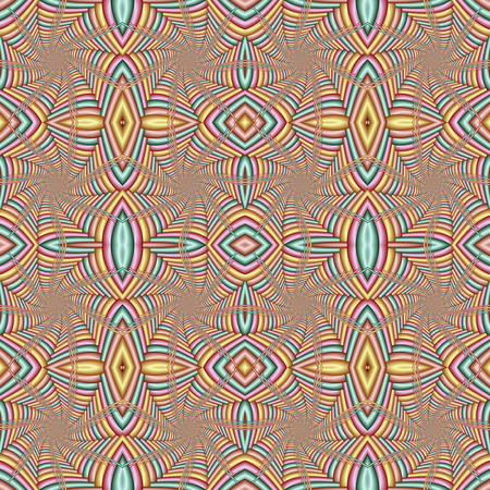 Multicolor Seamless abstract festive pastel pattern. Tiled ethnic pattern. Geometric mosaic. Great for tapestry, carpet, blanket, bedspread, fabric, ceramic tiles, stained glass window, wallpapers Archivio Fotografico - 122008262