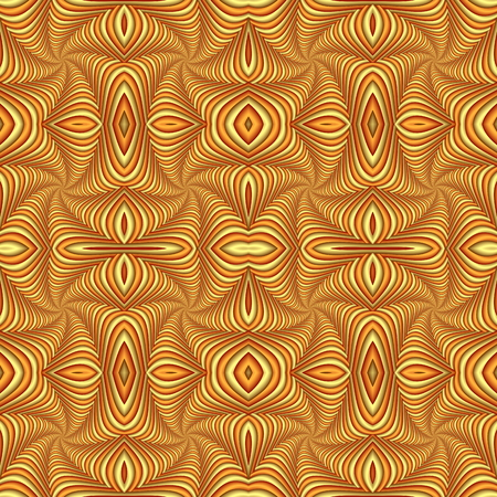 Seamless abstract festive pattern, yellow and brown. Tiled ethnic pattern. Geometric mosaic. Great for tapestry, carpet, blanket, bedspread, fabric, ceramic tiles, stained glass window, wallpapers Stock fotó