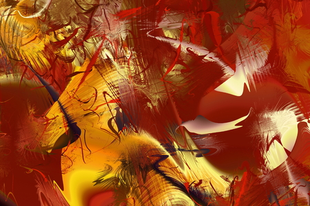 Abstract Modern Art background. Paint in Motion on the subject of creativity, imagination and energy of life.