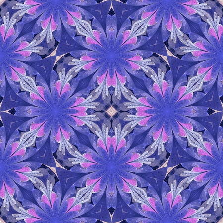 Multicolored floral pattern in stained-glass window style. You can use it for invitations, notebook covers, phone cases, postcards, cards, wallpapers. Artwork for creative design. Standard-Bild - 124899091