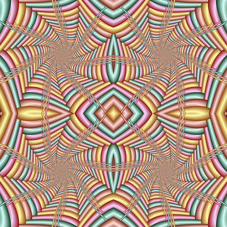 Multicolor Seamless abstract festive pastel pattern. Tiled ethnic pattern. Geometric mosaic. Great for tapestry, carpet, blanket, bedspread, fabric, ceramic tiles, stained glass window, wallpapers