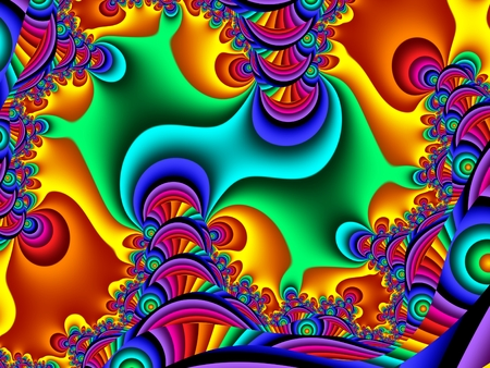 Fabulous multicolored pattern. You can use it for invitations, notebook covers, phone case, postcards, cards. Artwork for creative design and art. Standard-Bild - 124899449
