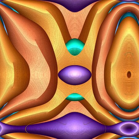 Series - Game of shapes. Abstract Modern Art background. Arrangement of vibrant volume abstract shapes. Subject of creativity, imagination, art and design.