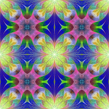 Multicolored flower pattern in mosaic style. You can use it for invitations, notebook covers, phone cases, postcards, cards, wallpapers. Artwork for creative design, art and entertainment.