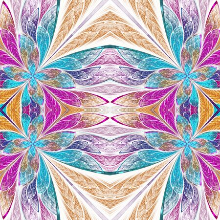 Beautiful flower pattern in stained-glass window style. You can use it for invitations, notebook covers, phone cases, postcards, cards, wallpapers and so on. Artwork for creative design.