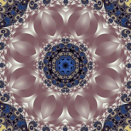 Fabulous fractal background with spiral and petals ornament. You can use it for invitations, notebook covers, phone case, postcards, cards, ceramics, carpets and so on. Artwork for creative design and art.