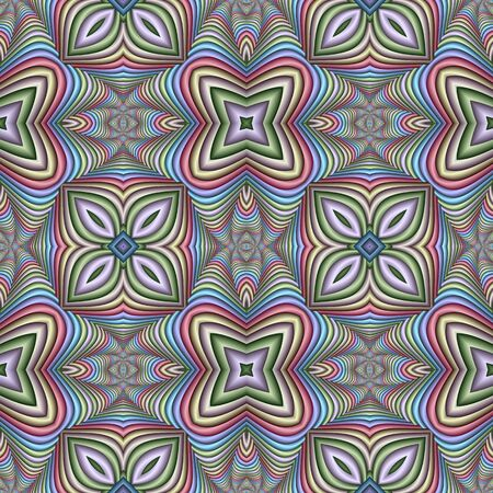 Multicolor Seamless abstract festive pastel pattern. Tile ethnic pattern. Geometric embossed mosaic. Great for carpet, blanket, phone, bedspread, fabric, ceramic tiles, stained glass window, wallpapers
