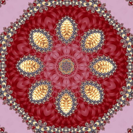 Fabulous fractal background with spiral and circle ornament. You can use it for invitations, notebook covers, phone case, postcards, cards, ceramics, carpets and so on. Artwork for creative design and art.