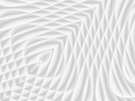 White and light grey futuristic pattern. Monochromatic design for backgrounds, templates, backdrops, surface, textile and fabric designs. 3d render illustration Reklamní fotografie