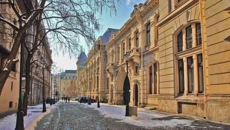 Bucharest Old Town. The street in Bucharest - city centre - Romania. Stock Photo