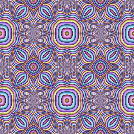 Motif pastel festif abstrait sans couture multicolore. Carrelage motif ethnique. Mosaïque géométrique en relief. Idéal pour tapis, couverture, téléphone, couvre-lit, tissu, carreaux de céramique, vitrail, papiers peints