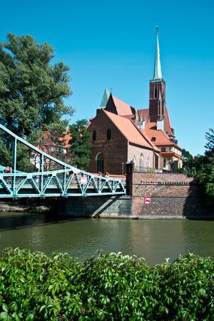 dolnoslaskie: Bridge to island Tumski, Wroclaw, Poland