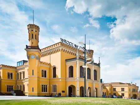 dolnoslaskie: Wroclaw railway station in Poland