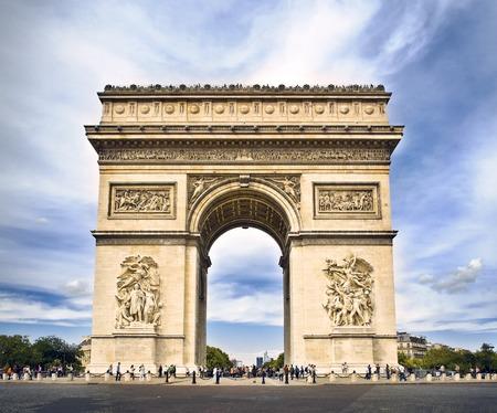Arc de triomphe Paris, France at Sunset, with a light toning 版權商用圖片