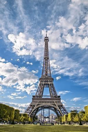 Eiffel Tower, view from the Champs de Mars. Paris, France