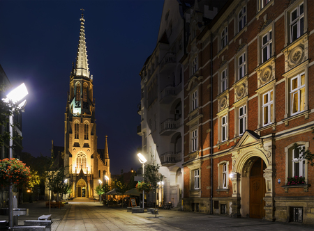 eclecticism: Church of the Immaculate Conception of the Blessed Virgin Mary in Katowice, Poland.