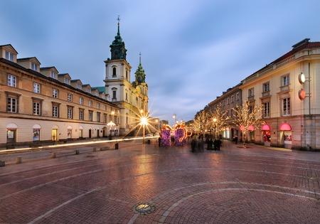 Holy Cross Church (Kosciol Swietego Krzyza), Warsaw, Poland in the evening