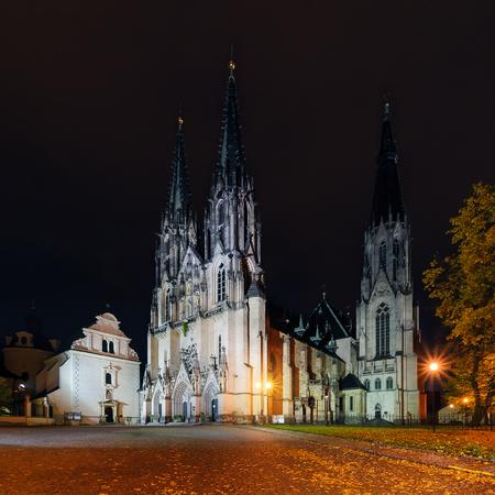 olomouc: St.Wenceslas Cathedral in Olomouc in autumn. Czech Republic. Europe.