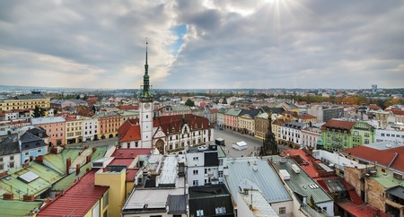 Panorama of the city skyline in Olomouc,  Czech Republic. Europe.