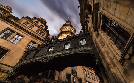 dresden: Amazing architecture in old town of Dresden in the evening. Germany. Europe.
