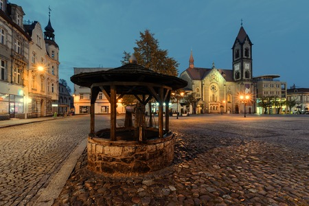The well in the central square of Tarnowskie Gory, Silesia, Poland.