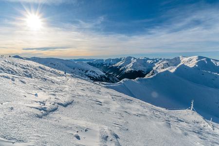 Winter High Tatras near Kasprowy Wierch. Poland, in the morning. Stock Photo