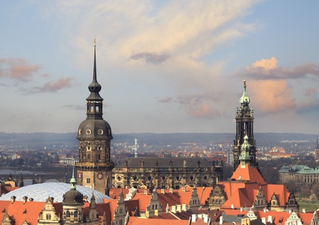 The church in Dresden. Air view. Evening foto. Dresden. Saxony, Europe.