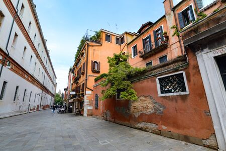 The street in Venice. Day foto. Italy. Europe. 스톡 콘텐츠