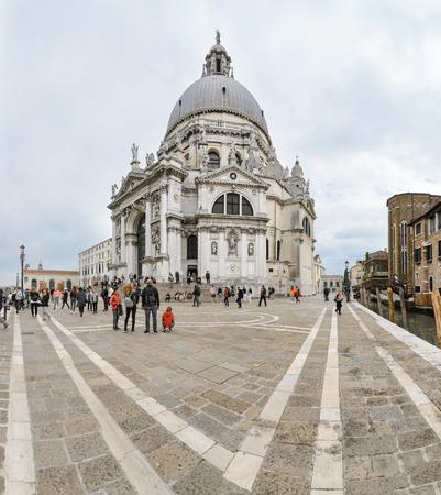 VENICE - APRIL 30: Basilica Santa Maria della Salute on april 30, 2019 in Venice, Italy.